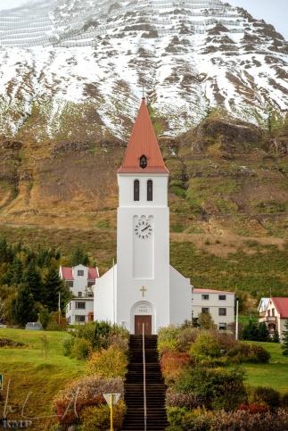 Die Kirche von Siglufjörður