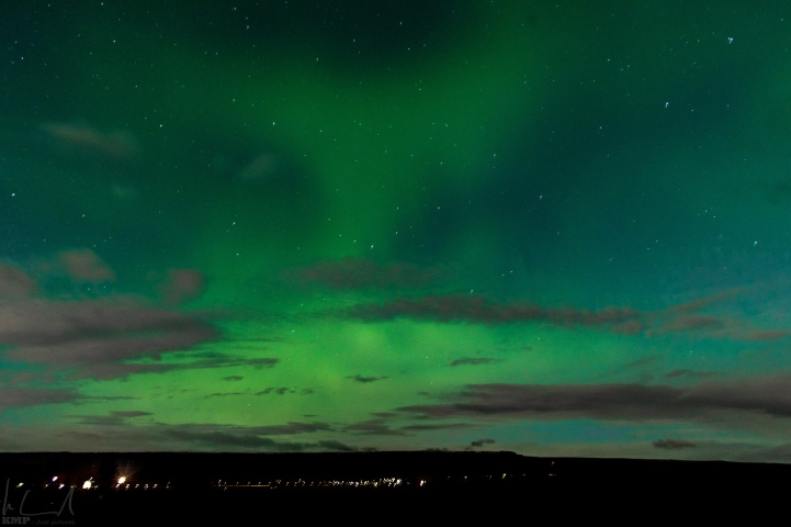 Nordlichter über Egilsstaðir