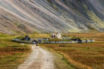 Filmkulisse für ein Vikingerdorf