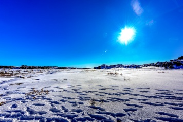 Schnee auf 500m über Meer