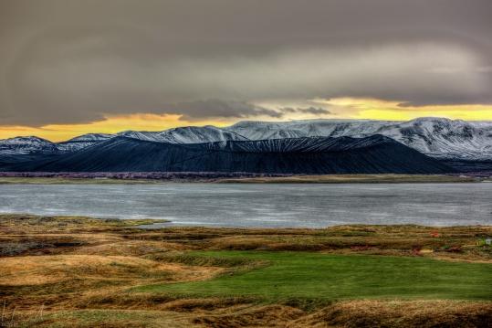 Der Krater Hverfjall am Mývatn
