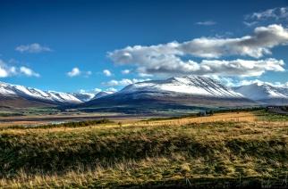 Blick nach Süden von Akureyri