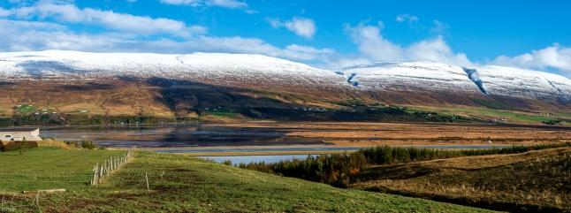 Das Ende des Eyjafjörður bei Akureyri