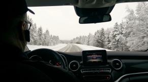 Auf der Fahrt von Ivalo nach Inari
