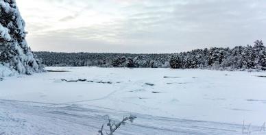 Der Fluss Juutuanjoki hinter dem Hotel Kultahovi