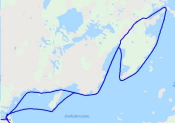 25km mit dem Snowmobil auf Inarijärvi