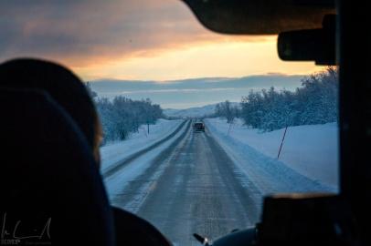 mit 100 km/h Richtung Norden nach Kirkenes