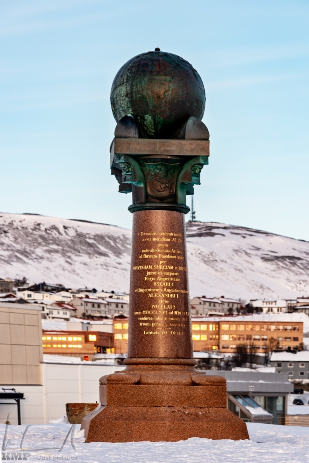Das Meridianmonument in Hammerfest