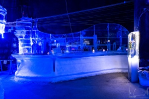 Die Theke der Magic Ice Bar in Svolvaer