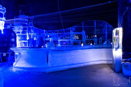 Die Theke der Magic Ice Bar in Svolvaer