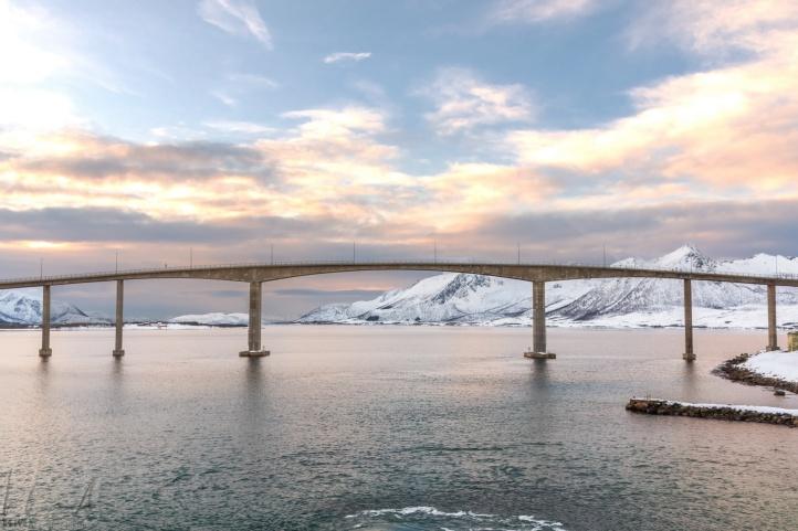 Die Brücke von Risøyhamn