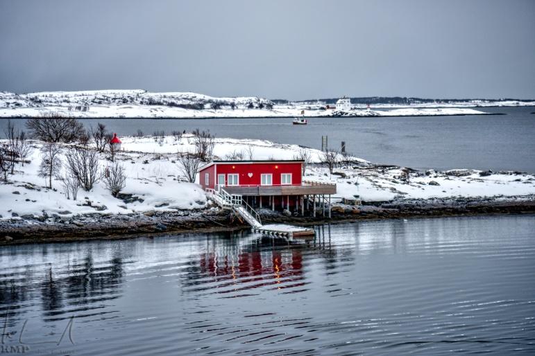 Ankunft im Hafen von Brønnøysund