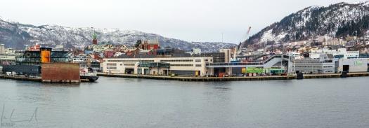 Ankunft im Hafen von Bergen