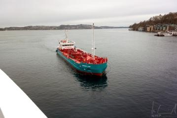 Das Tankschiff in Bergen
