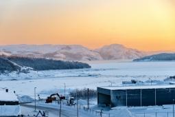 Sonnenaufgang in Kirkenes nach 12:00