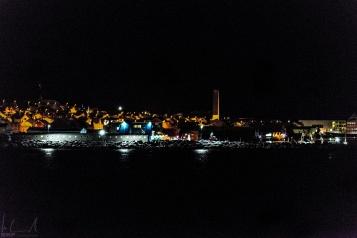 Einfahrt in den Hafen von Vardø um 16:00