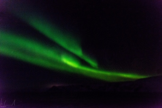 Nordlichter über der Barentsee