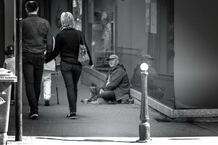 Bettler in der Altstadt