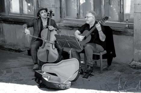 Strassenmusiker beim Koifhus