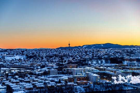 Trondheim am Morgen
