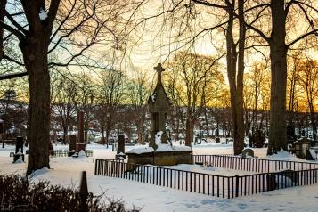 Friedhof hinter der Kathedrale von Trondheim