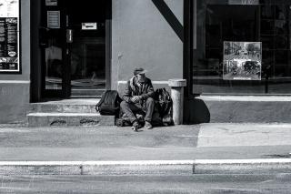 Bettler in der Akersgata