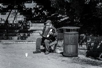 Strassenmusiker auf dem Slottsplassen