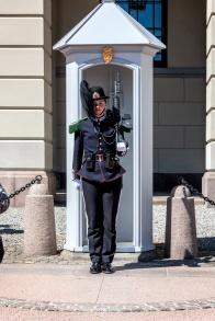 Wache der Hans Majestet Kongens Garde vor dem königlichen Schloss