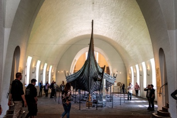 Das Oseberg Schiff im Vikingskipshuset