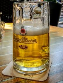 Erstes Bier nach der Ankunft