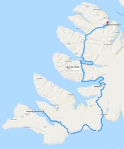 5. Etappe von Patreksfjörður nach Ísafjörður