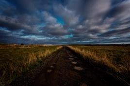 Nachtaufnahme beim Ensku húsin - Blick Richtung Norden