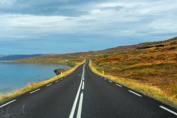 Auf dem Djúpvegur Richtung Drangsnes unterwegs