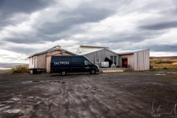 Das Saltverk auf der Reykjanes-Halbinsel