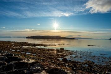 Sonnenaufgang über Grímsey