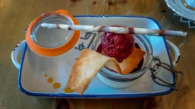 Dessert im Bjargarsteinn in Grundarfjörður