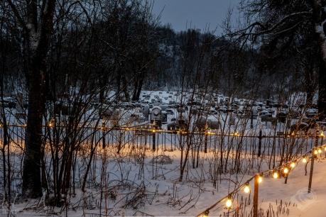 Friedhof bei der Vågan-Kirche in Kabelvåg