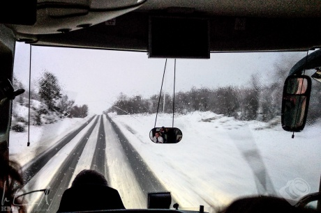 Busfahrt von Svolvær nach Harstad