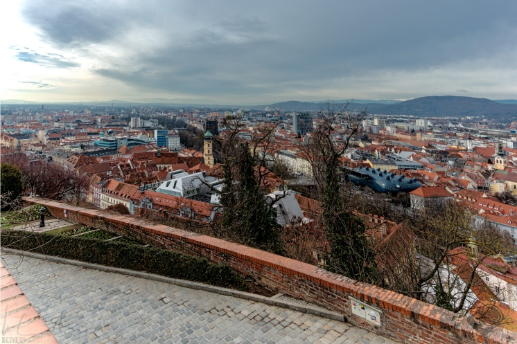 Blick über Graz vom Uhrturm
